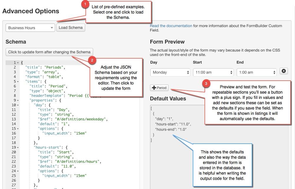 FormBuilder Custom Field - JReviews Documentation