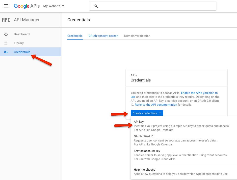 How to create Google Maps API keys - JReviews Documentation